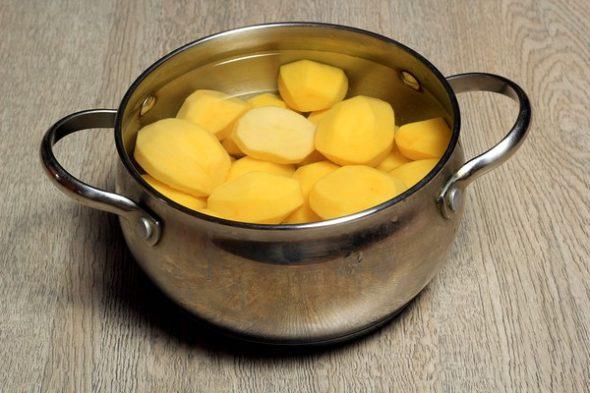 Очищенный картофель для ингаляций