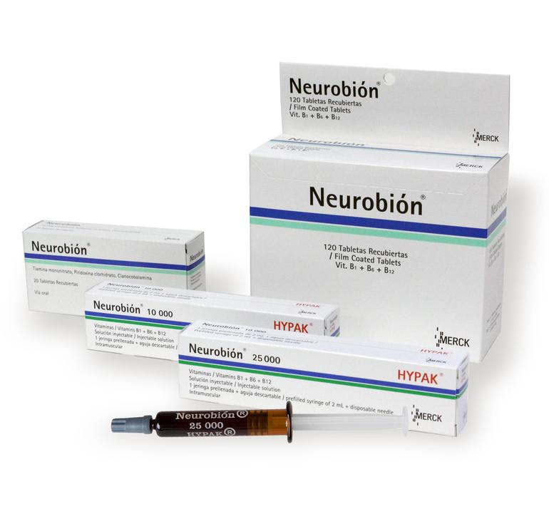 Нейробион применение