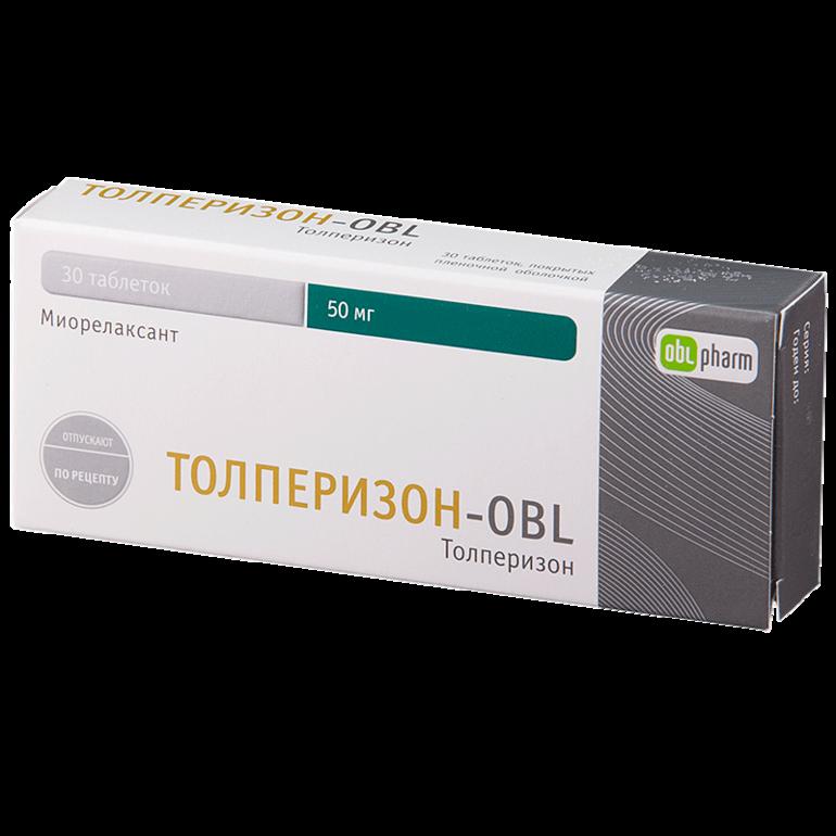 Препарат Толперизон-OBL.