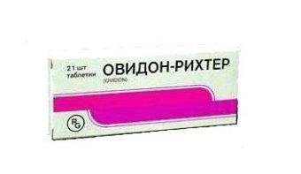 Овидон - препарат при климаксе негормональный