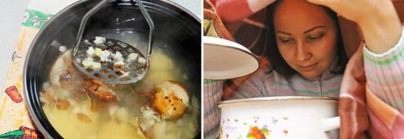 Как дышать над картошкой при кашле: рецепты