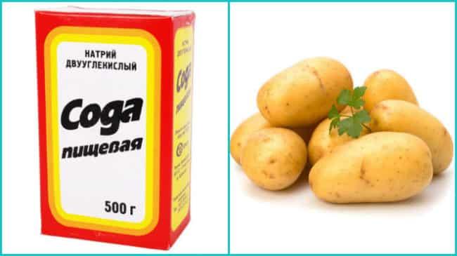 Картофель с содой и солью для ингаляций